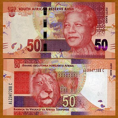 South Africa, 50 rand, ND (2012), P-NEW, UNC > Mandela, Lion
