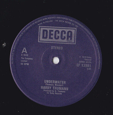 "Harry Thumann * Underwater / American Express * 12"" Single Decca Lf 13901"