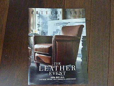 Pottery Barn Catalog The Leather Event Fall Preview 2016~Like New Condition