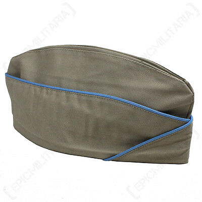WW2 US Infantry Khaki Garrison Cap - Repro American Side Hat Uniform Summer Army