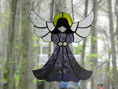 Hanging Stained glass angel suncatcher