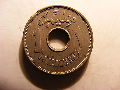 Egypt Millieme, 1938, UNCIRCULATED, One Year Type Coin