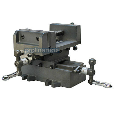 2 Way 3'' Drill Press X-Y Compound Vise Cross Over Slide Mill Drill Press Table