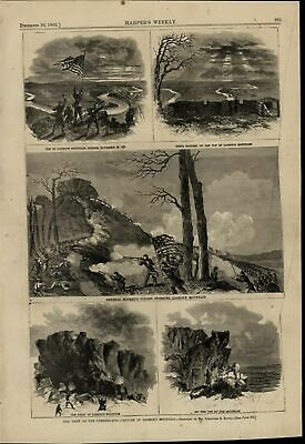Lookout Mountain Capture Cumberland Army Battle 1863 great old print for display