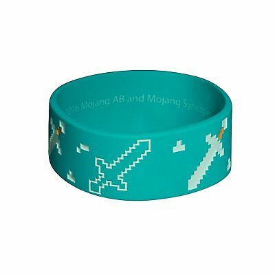 Authentic MINECRAFT Explorer Silicone Rubber Bracelet Blue NEW