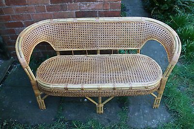 Attractive vintage bamboo settee