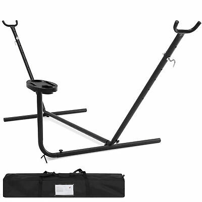 Portable 10' Hammock Stand W/ Cup Holder Accessory Tray And Carrying Case