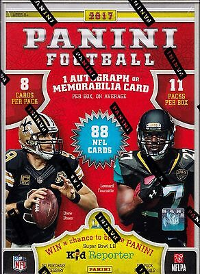 2017 Panini Football sealed blaster box 11 Packs of 8 NFL cards 1 hit