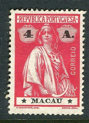 MACAU;  ( Portuguese Col.)  1913 early Ceres issue Mint hinged 4a. value