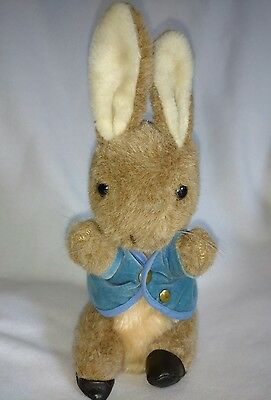 "Vtg Peter Rabbit Wind Up Musical Plush Eden Toys Frederick Warne 10.5"" Tall"