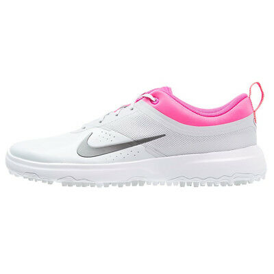 NEW Womens Nike Akamai Golf Shoes Spikeless Grey / Pink - Choose Your Size!