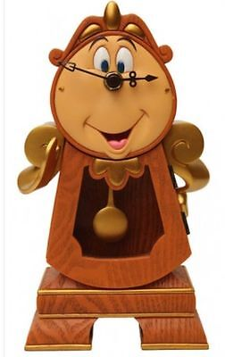 New rare Disney Cogsworth Clock Working Pendulum Beauty and The Beast