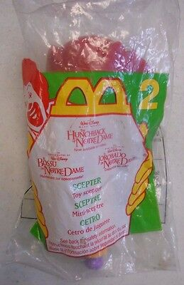 1996 Mcdonalds Happy Meal Hunchback of Notre Dame #2 Scepter  - New & Sealed Toy