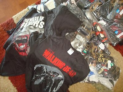 WHOLESALE LOT 10pc TV MOVIES THRONES ZOMBIE VIDEO GAME private SUPERHERO SHIRTS