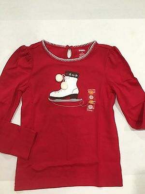 Gymboree Girl's Ice Skating Red Shirt SIZE 6 NEW 24.95