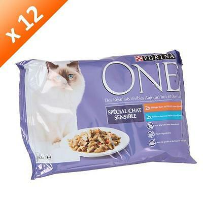 ONE Sachets avec effiles special chat sensible 4 x 85g -12-