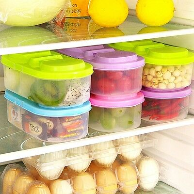 Plastic Kitchen Container Fresh Fruit Food Snacks Storage Sauce Box Food Case