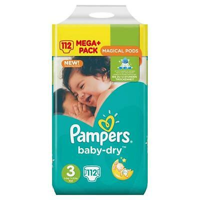 PAMPERS Baby-dry Couches Taille 3 X112