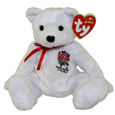 TY Beanie Baby - SCRUM the Rugby Bear (UK Exclusive) (7 inch) - MWMTs