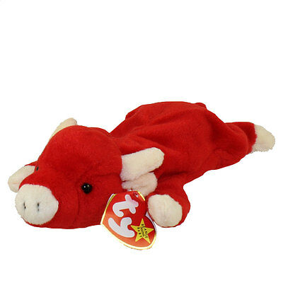 TY Beanie Baby - SNORT the Bull (9 inch) - MWMTs Stuffed Animal Toy