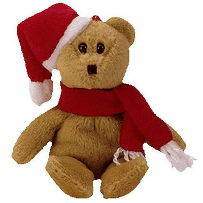 TY Jingle Beanie Baby - 1997 HOLIDAY TEDDY (5.5 inch) - MWMTs Ornament Holiday