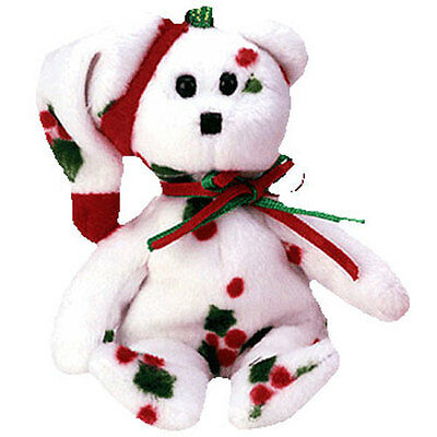 TY Jingle Beanie Baby - 1998 HOLIDAY TEDDY (5 inch) - MWMTs Ornament Holiday Toy