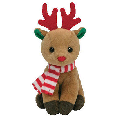 TY Holiday Baby Beanie - FREEZER the Reindeer (4 inch) - MWMTs Ornament Holiday