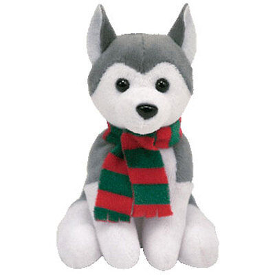 TY Holiday Baby Beanie - SLEDS the Husky Dog (4 inch) - MWMTs Ornament Holiday