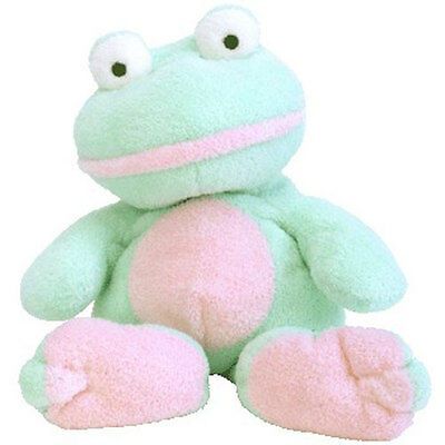 TY Pluffies - GRINS the Frog (11 inch) - MWMTs Stuffed Animal Toy