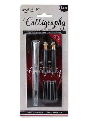 Mont Marte 2 Nib Calligraphy Writing Set
