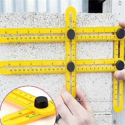 Four-sided Ruler Mechanism Slides Measuring Instrument Angle-izer Template Tool