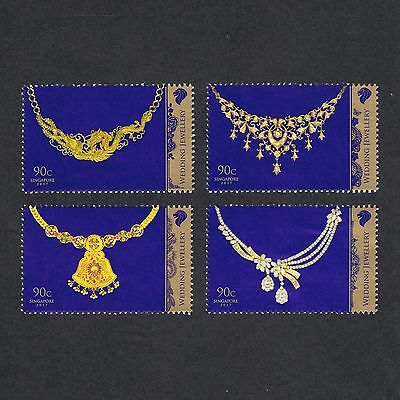 Set 2017 Singapore Wedding Jewellery 90¢ X 4 Pieces Complete Stamps Mnh