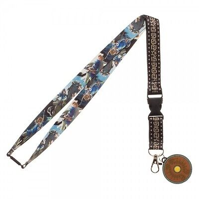 Authentic LEGEND OF ZELDA Breath Of The Wild Link Shield Lanyard ID Holder NEW