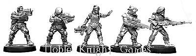 Mirliton SG Grenadier Sci-Fi Mini 28mm Troopers w/Heavy Weapons #2 Pack MINT