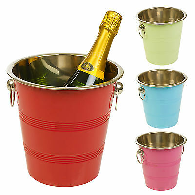 Metal Chic Champagne Glaçon Cooler Bucket Wine Drink Trough Party Accessory Beer