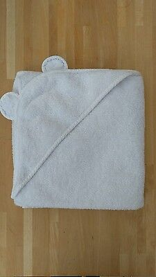 The little white company white bear eared cotton hooded bath towel, g.condition