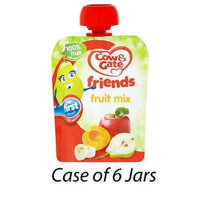 COW & GATE FRIENDS FRUIT MIX 80g BABY TODDLER FOOD POUCH CASE OF 6 150756