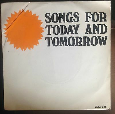 "The Nigel Brooks' Singers - Songs For Today and Tomorrow UK 1966 7"" EP Tower"