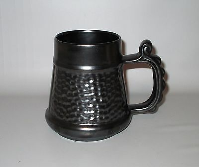 "Prinknash Abbey Tankard Beer Mug Gun Metal Grey Hammered Pewter 4 7/8"" England"