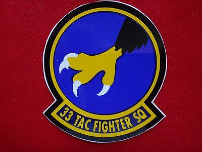 USAF 33rd Tactical Fighter Squadron Decal Sticker