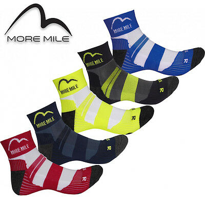 5 Pair Pack More Mile Cushioned Padded Coolmax Sports Running Socks Mens Ladies