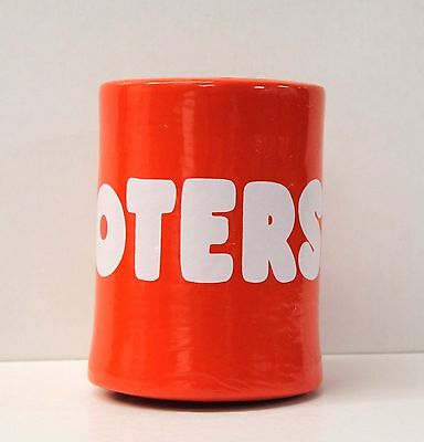 NEW Hooters Orange/White Foam Coozie Koozie Beer Drink Soda Can Insulated Cooler