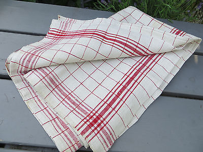 """German Thickly   Handwoven  Linen Towel Runner  Dish Cloth Never Used 29 """" by 34"""