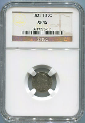1831 Capped Bust Half Dime, NGC XF45