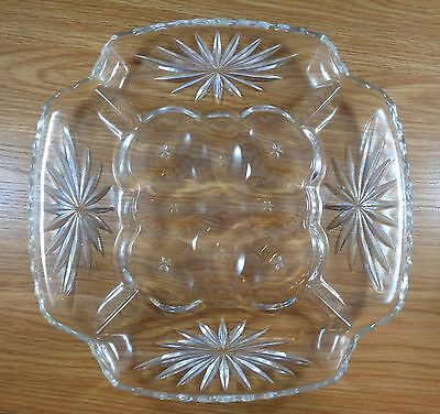 Anchor Hocking Early American Prescut Egg Plate Relish Tray