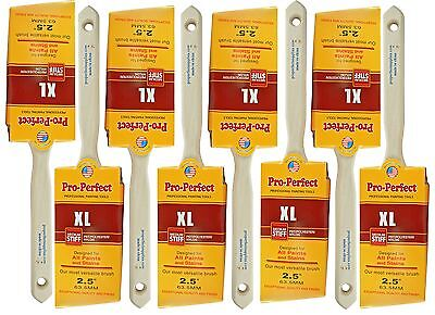 """8 PACK 2-1/2"""" Angle Sash PRO PERFECT PAINT BRUSH LOT.. Includes 8 Each 2-1/2"""" A"""