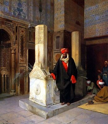 Handmade Oil Painting repro Ludwig Deutsch -The Prayer at the Tomb