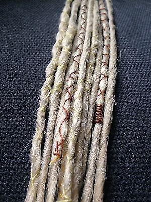 Handmade Synthetic Dreadlocks Blonde Accent Set 10 Dreads Extensions Wraps