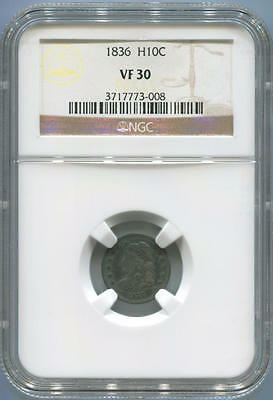 1836 Capped Bust Half Dime, NGC VF30