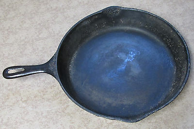 Vintage Wagner 11 3/4 inch cast iron skillet unmarked used condition